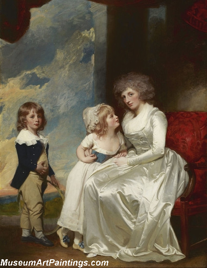 Henrietta Countess of Warwick and Her Children Painting