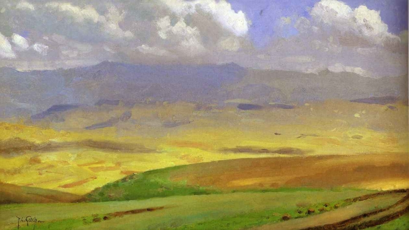 High Veldt South Africa by Thomas Cooper Gotch
