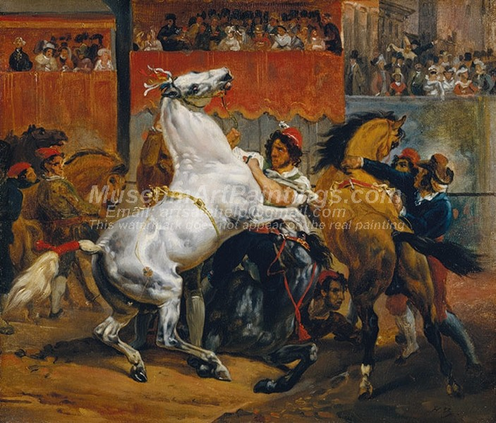 Horace Vernet Painting The Start of the Race of the Riderless Horses