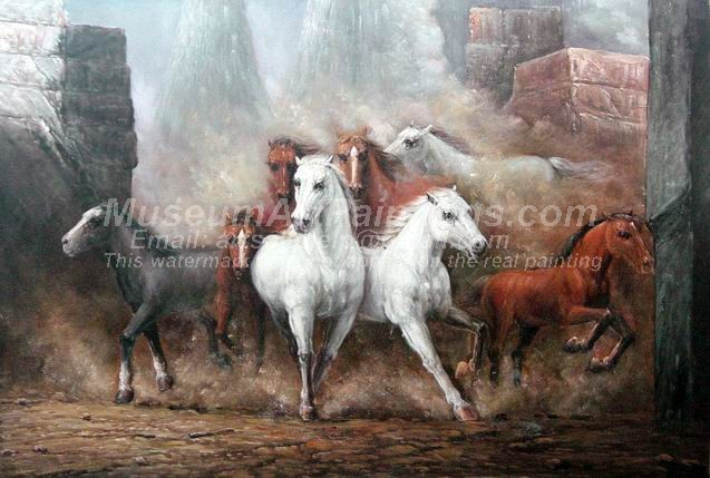 Horse Oil Paintings 024