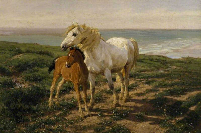Horse Paintings Mother and Son