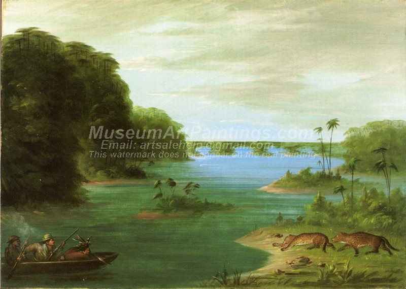 Hunting Paintings A Jaguar Hunt Brazil