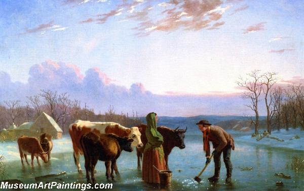 Ice Gatherers Painting