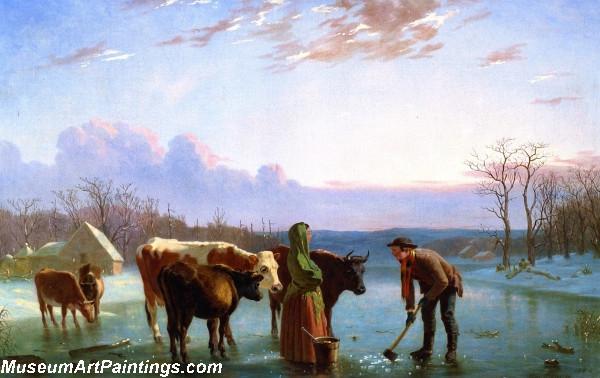 Ice Gatherers Painting