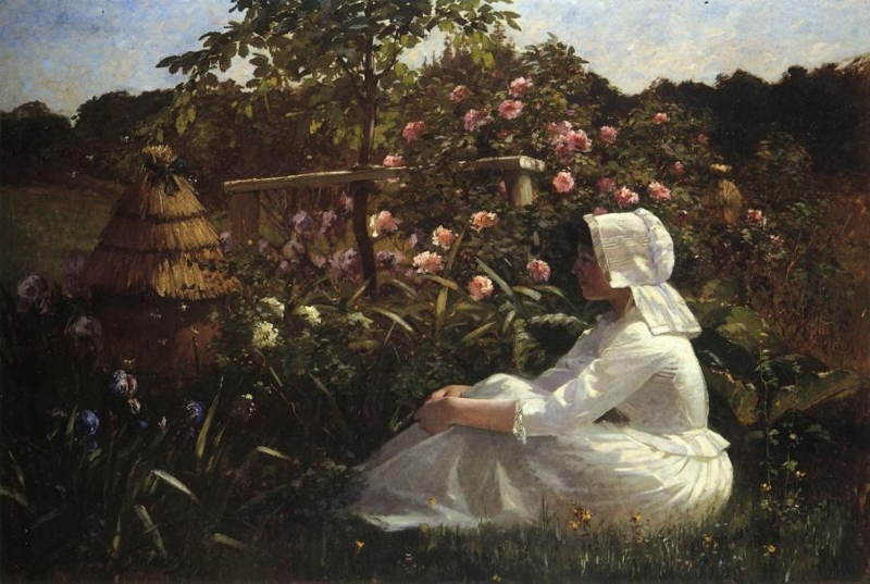 In a Field of Flowers by Abbott Fuller Graves