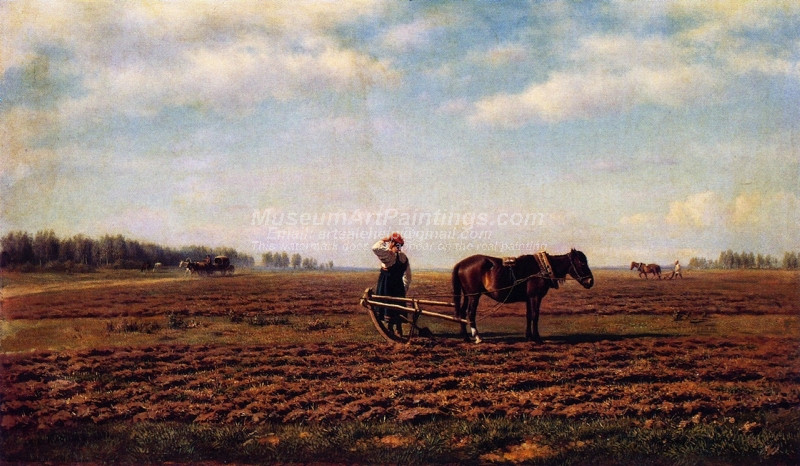 In the Plowed Field by Mikhail Konstantinovich Klodt
