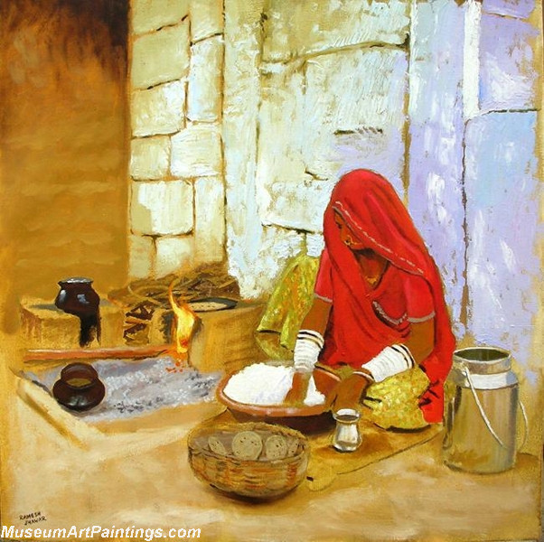 Indian Girl Paintings Kitchen