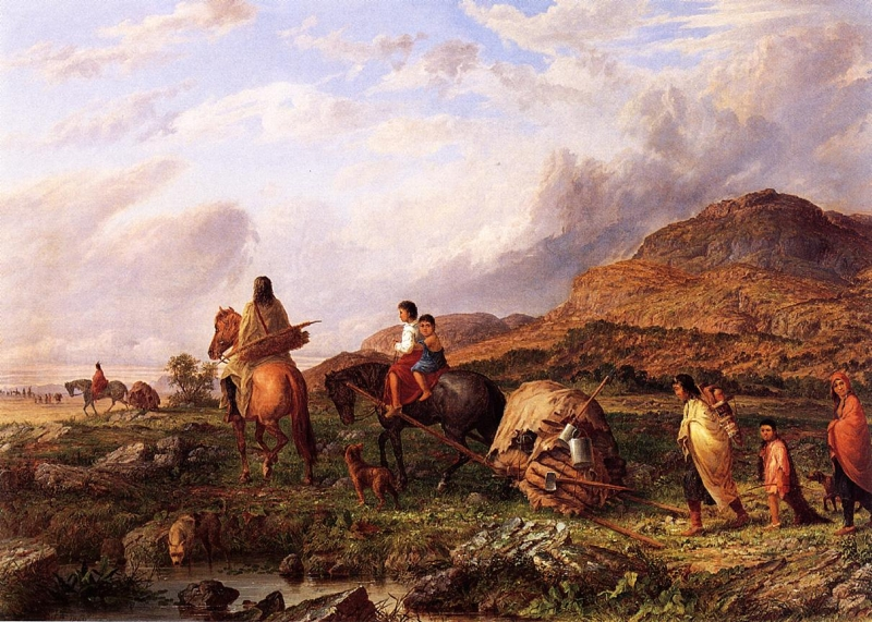 Indian Mode of Transportation by Seth Eastman
