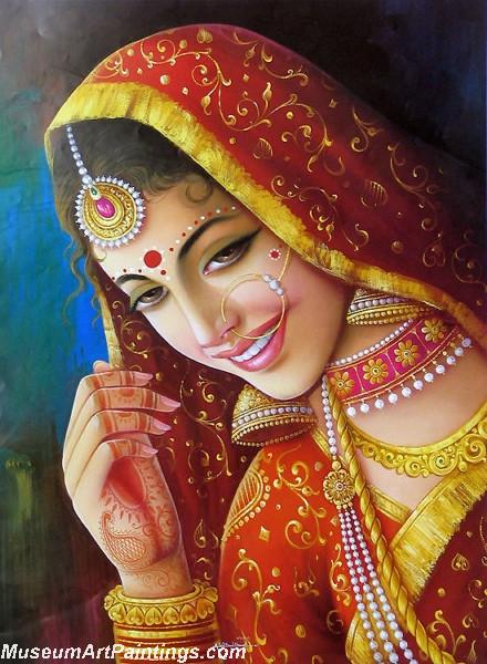 Indian Village Paintings New Bride