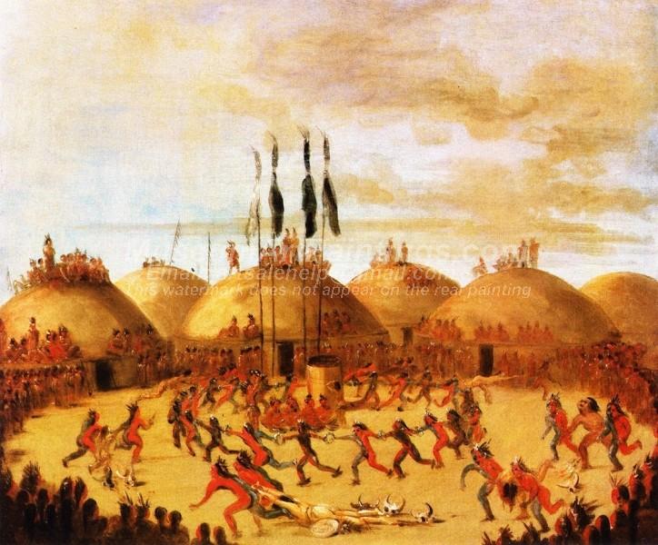 Indians Oil Paintings Mandan Dance