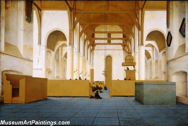 Interieur van de Sint Odulphuskerk in Assendelft Painting