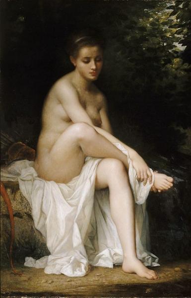Ismenie Nymph of Diana by Charles Zacherie Landelle