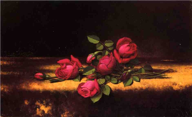 Jaqueminot Roses by Martin Johnson Heade