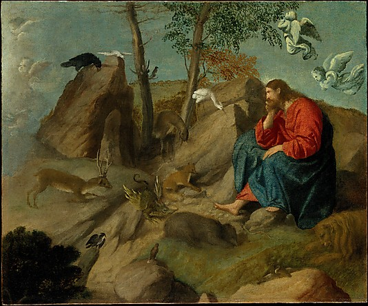 Jesus Christ Paintings Christ in the Wilderness