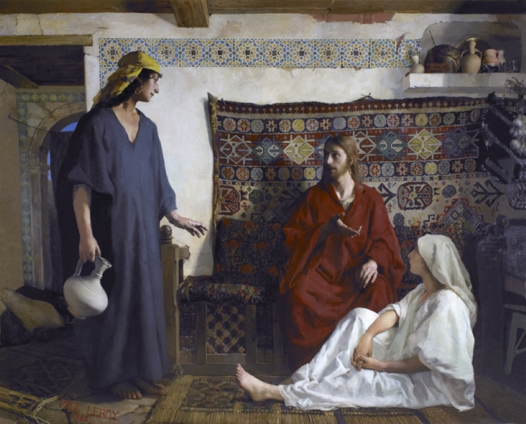 Jesus chez Marthe et Marie by Paul Alexandre Alfred Leroy