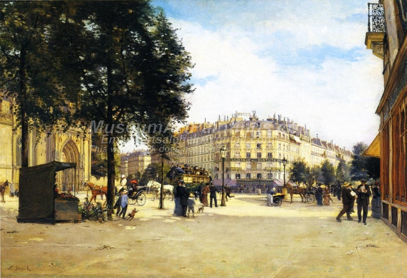 Junction of the Boulevard Magenta Paris