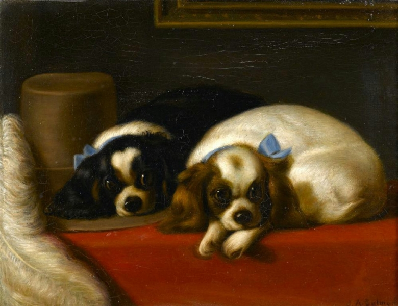 King Charles Spaniels by Sir Edwin Landseer