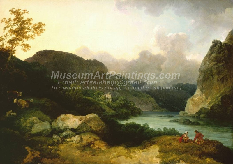 Lake Scene Evening by Philip James De Loutherbourg