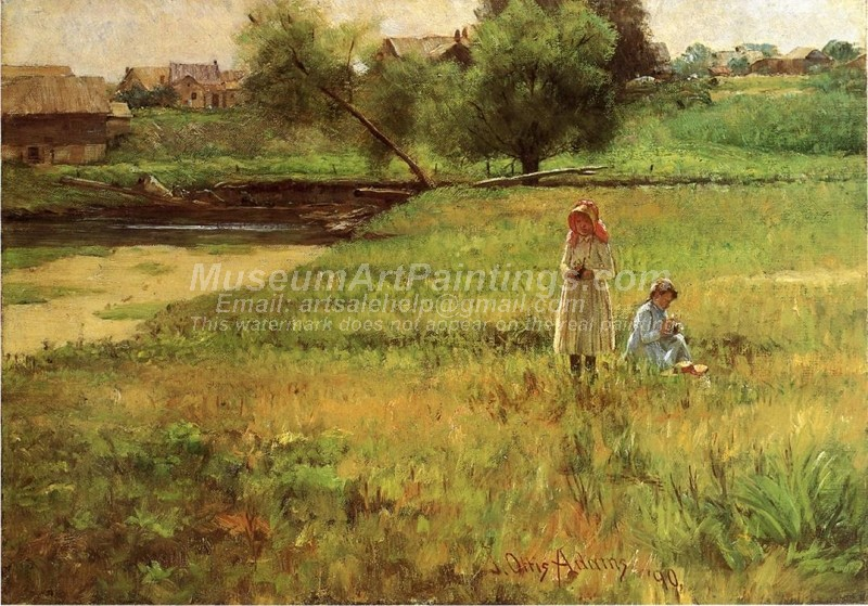 Landscape Countryside Paintings Summertime