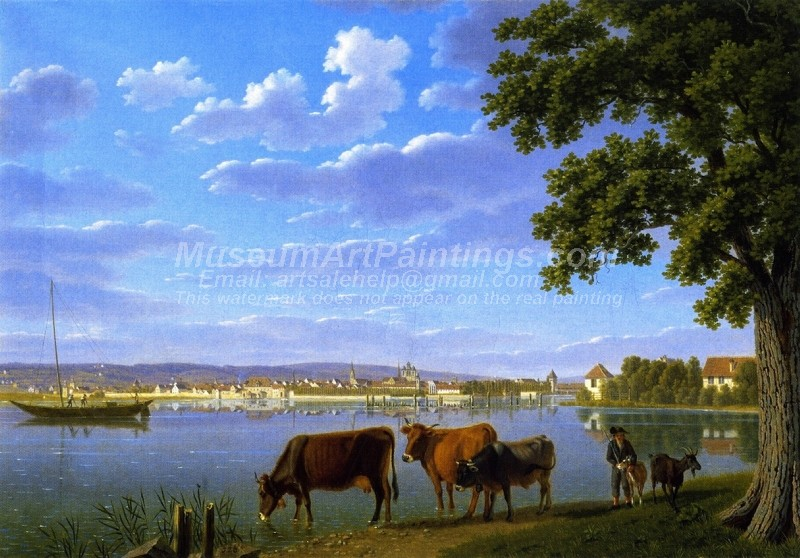Landscape Countryside Paintings View of Constance