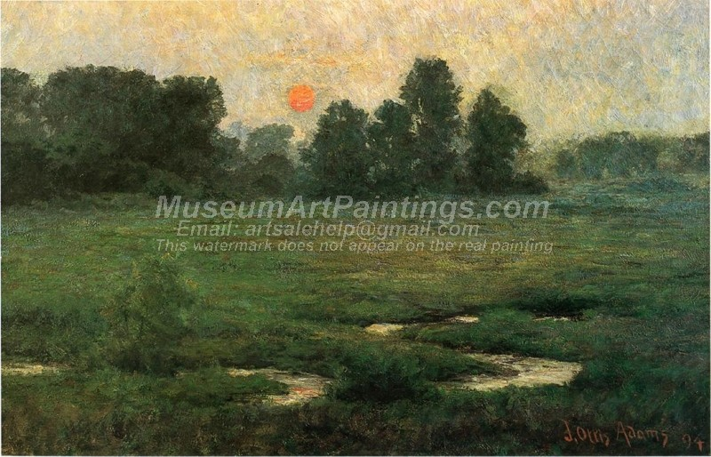 Landscape Oil Paintings An August Sunset Prarie Dell
