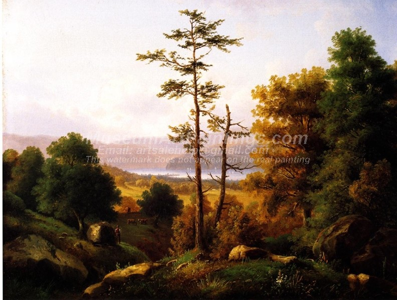 Landscape Oil Paintings On the Hudson