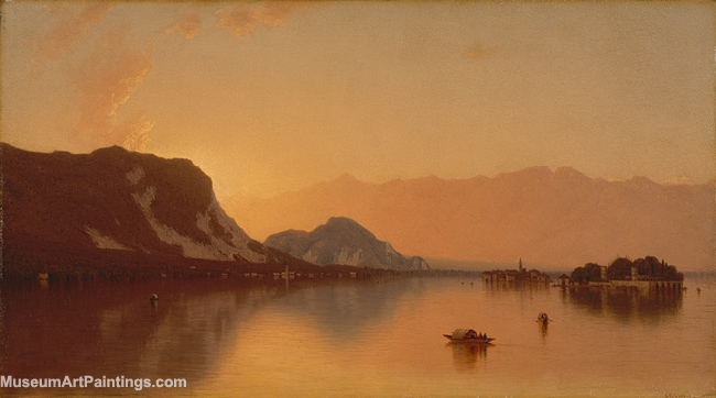Landscape Painting Lake Maggiore