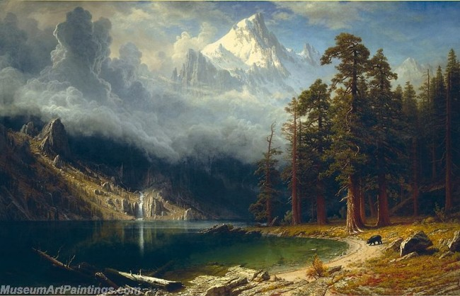Landscape Paintings Albert Bierstadt Mount Corcoran