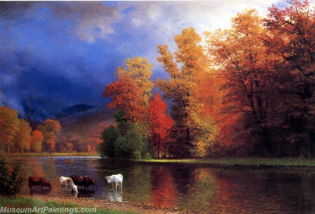 Landscape Paintings Albert Bierstadt On the Saco