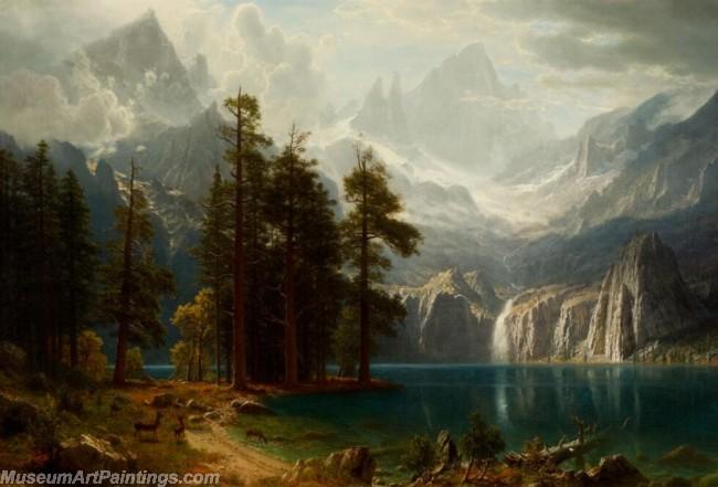 Landscape Paintings Albert Bierstadt Sierra Nevada