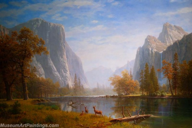 Landscape Paintings Albert Bierstadt Yosemite Valley