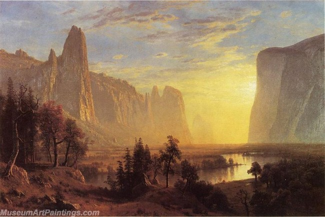 Landscape Paintings Albert Bierstadt Yosemite Valley Yellowstone Park