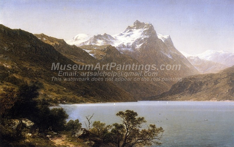 Landscape Paintings Alpine Lake