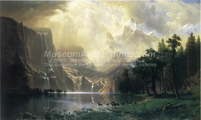 Landscape Paintings Among the Siera Navada Mountains California