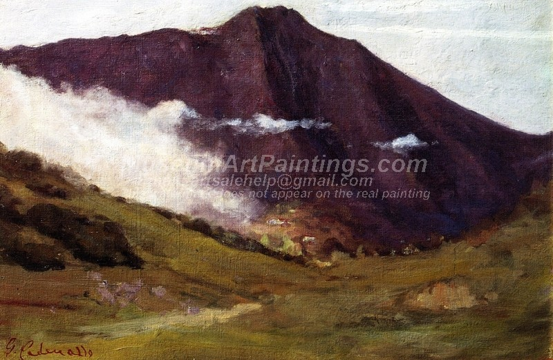 Landscape Paintings Fog Mount Tamalpais