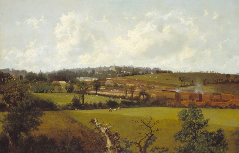 Landscape Paintings Hampstead from the South East