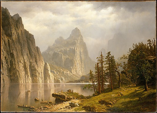 Landscape Paintings Merced River Yosemite Valley