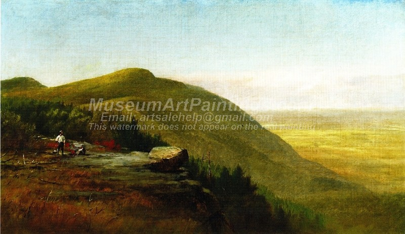 Landscape Paintings Mist in the Valley