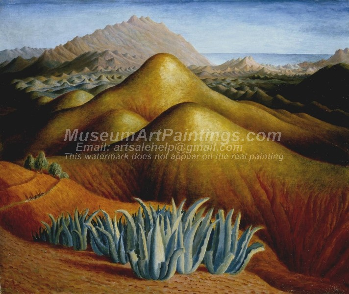 Landscape Paintings Spanish Landscape with Mountains