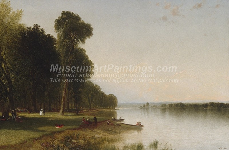 Landscape Paintings Summer Day on Conesus Lake