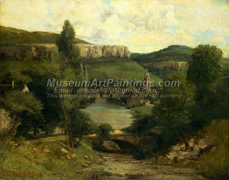 Landscape Paintings View of Ornans