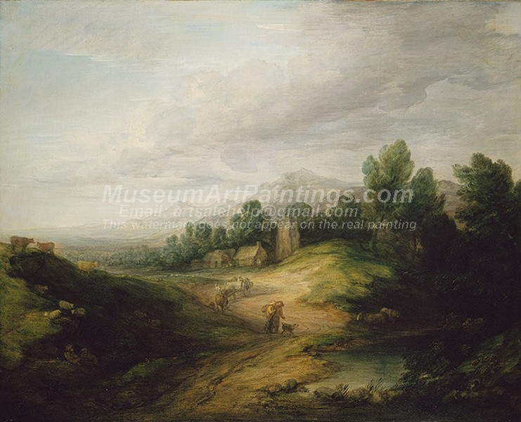 Landscape Paintings Wooded Upland Landscape