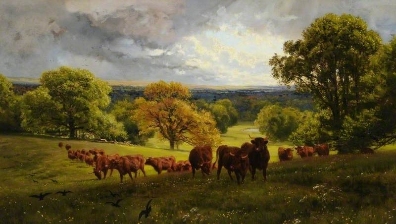 Landscape in Wiltshire by Henry William Banks Davis