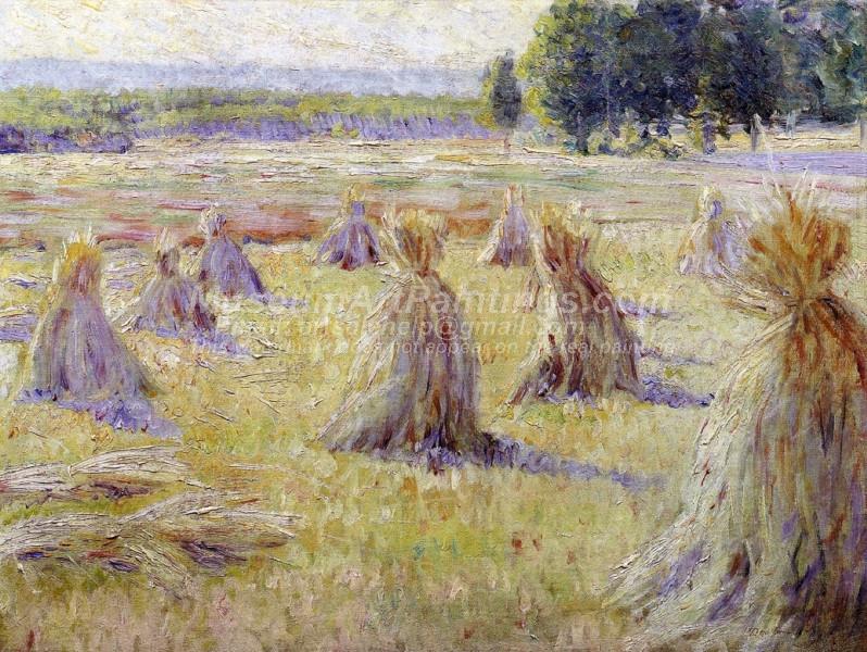 Landscape with Haystack by Dawson Dawson Watson