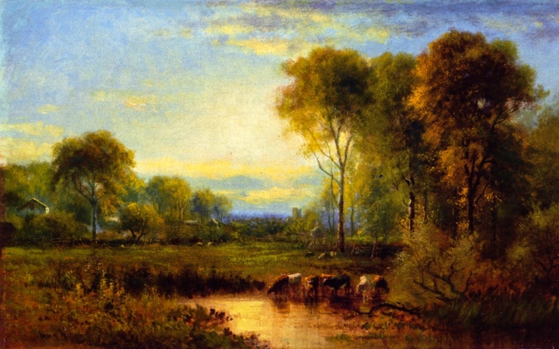 Late Summer Landscape by James McDougal Hart