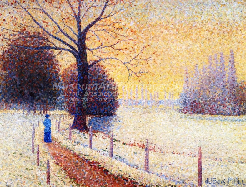 Le Puy in the Snow by Albert Dubois Pillet