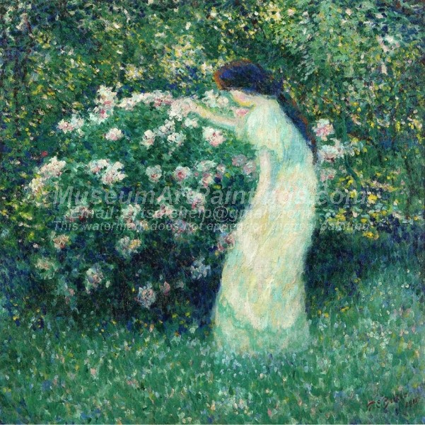 Lili Butler in Claude Monets Garden Painting