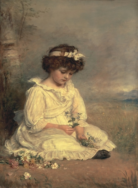 Little Speedwells Darling Blue by Sir John Everett Millais