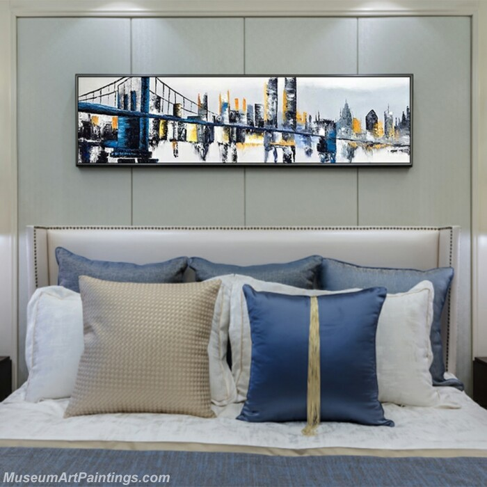 Living Room Paintings for Sale Abstract City Landscape Paintings