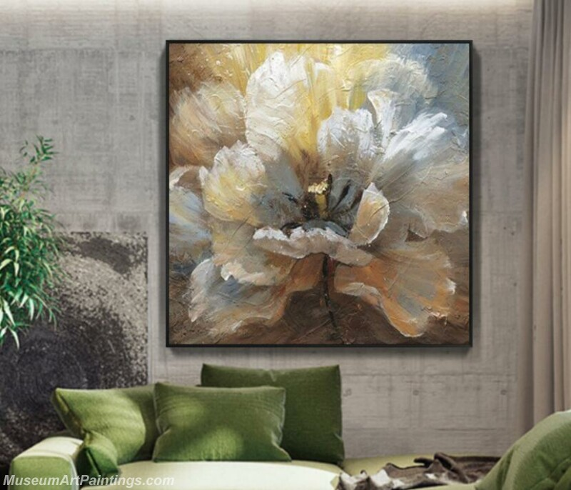 Living Room Paintings for Sale Abstract Flower Painting B512